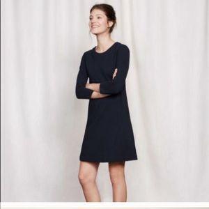 Boden Ottoman Ribbed Black A-Line Dress